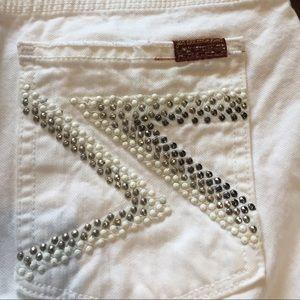 7FAM Seven 7 For All Mankind 29 Flynt White Jeans